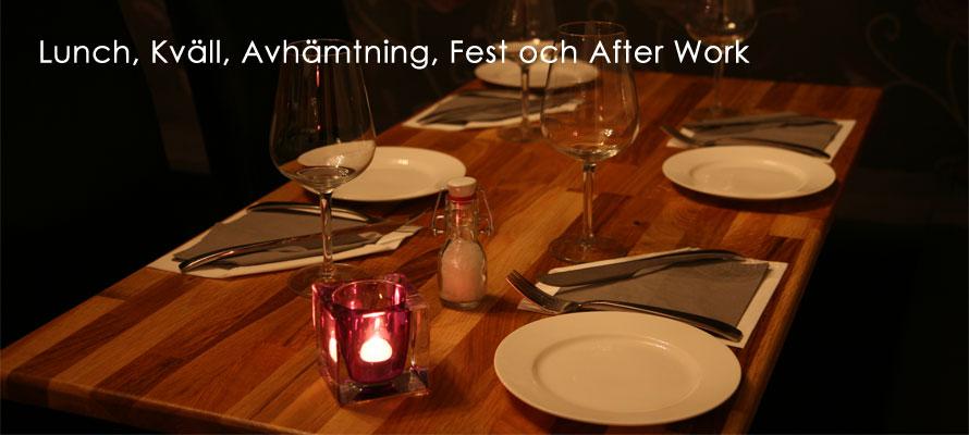 Lunch, Kväll, Avhämtning, Fest och After Work